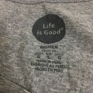 Life Is Good Tops - Life is Good Women's V Neck T Shirt, Sz Large